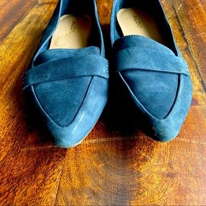 ALDO- blue pointed flats Size 7